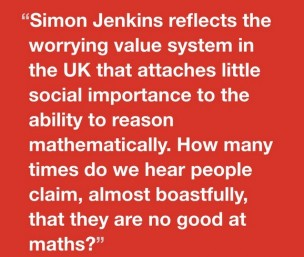 Simon Jenkins gets owned by Maths