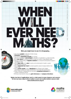 Maths in Geography poster