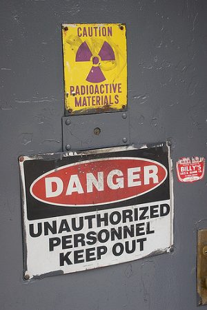 radioactivity warning