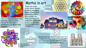 Maths and art