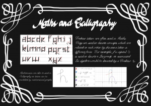 caligraphy and maths